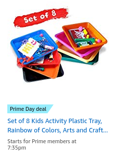 Kids activity plastic tray