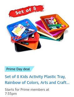 Kids activity plastic tray