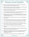 List of 13 easy memory verses.