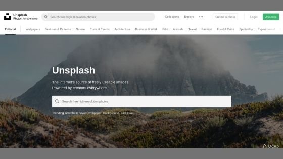 Unsplash is an online website that you can use to download free stock images.
