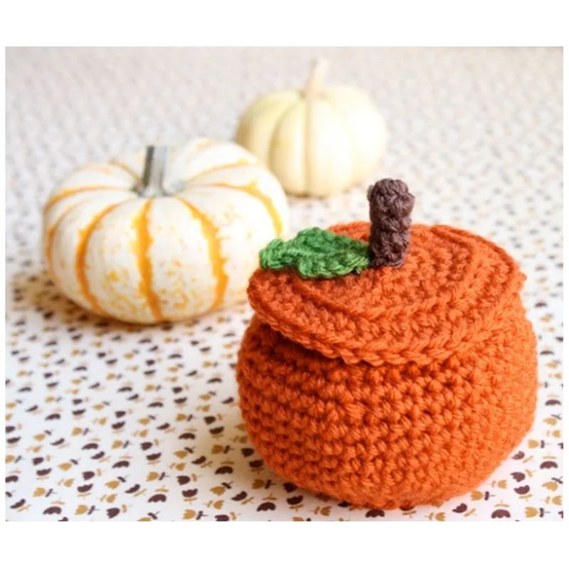 crochet pumpkin bowl