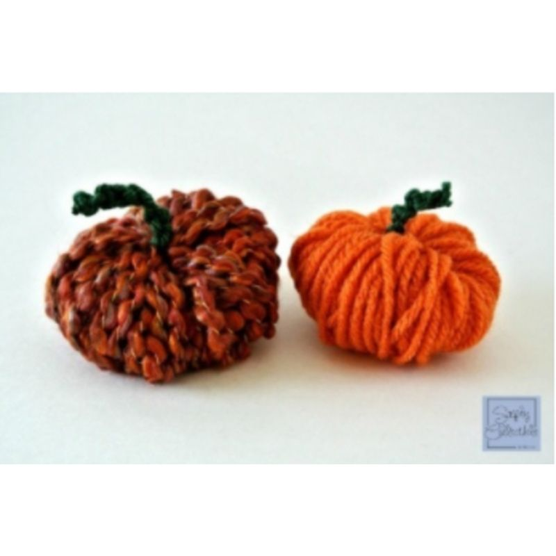 no crochet pom pom pumpkins
