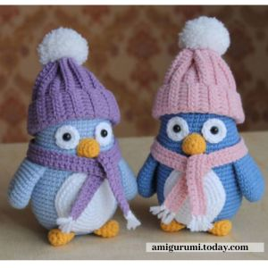 amigurumi penguins