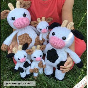 Free amigurumi crochet cow pattern