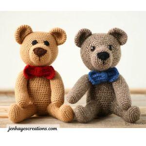Free amigurumi crochet teddy bear pattern.