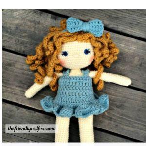 Free crochet amigurumi doll pattern.