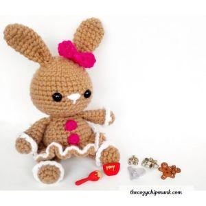 Free amigurumi crochet bunny pattern.