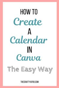 Learn how to create a simple calendar in canva that can be used as your own personal calendar or as an opt-in for your blog. #planners #diy #calendartemplate #vidoetutorial #canva